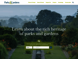 parksandgardens.org screenshot
