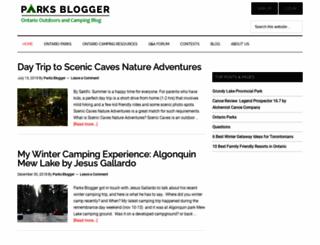 parksbloggerontario.com screenshot