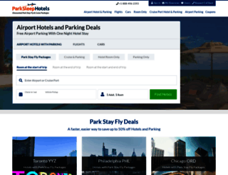 parksleephotels.com screenshot