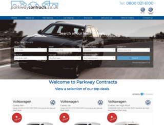 parkwaycontracts.co.uk screenshot