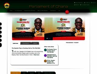 parliament.gh screenshot