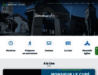 paroisse.montigny-voisins.fr screenshot