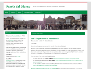 paroladelgiorno.com screenshot