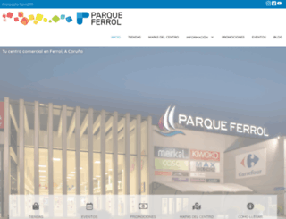 parqueferrol.es screenshot