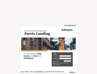parrislandingresidents.buildinglink.com screenshot