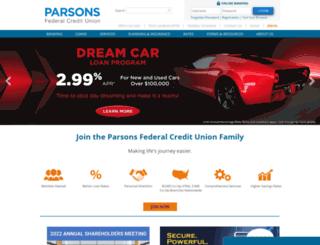 parsonsfcu.org screenshot