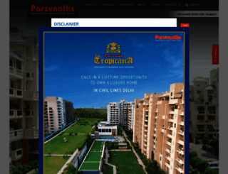 parsvnath.com screenshot