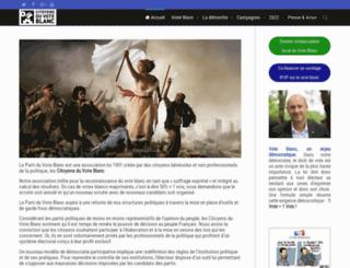 parti-du-vote-blanc.fr screenshot
