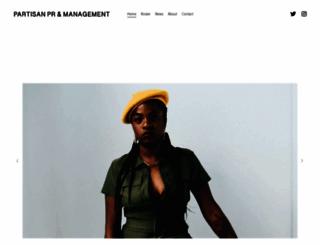 partisanpr.com screenshot