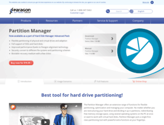 partition-manager.com screenshot