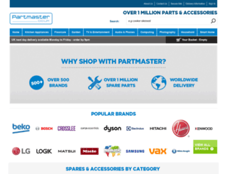 partmaster.co.uk screenshot