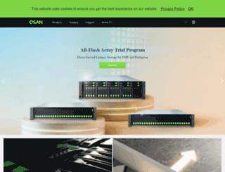 partner.qsan.com screenshot