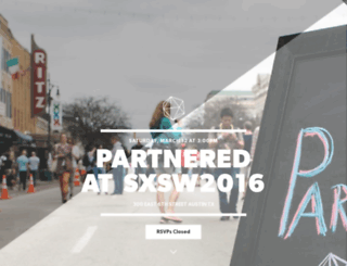 partneredsxsw2016.splashthat.com screenshot
