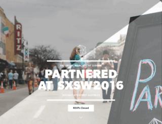 partneredsxsw2016.splashthat.com screenshot