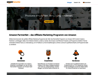 partnernet.amazon.de screenshot