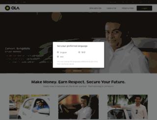 partners.olacabs.com screenshot
