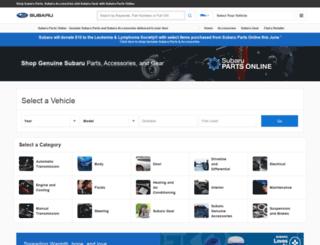 parts.subaru.com screenshot