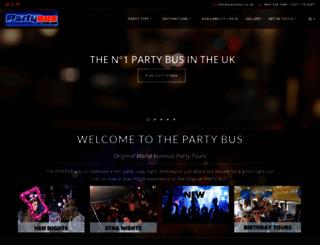partybus.co.uk screenshot