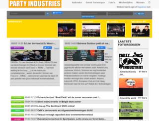 partyindustries.be screenshot