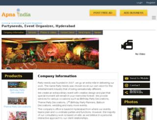 partyneedsevent-hyderabad.apnaindia.com screenshot