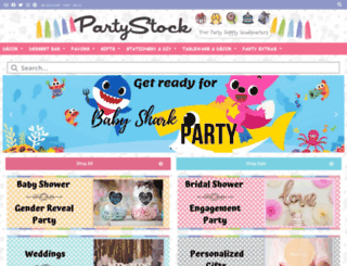 partystock.ca screenshot