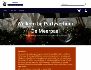 partyverhuurdemeerpaal.nl screenshot