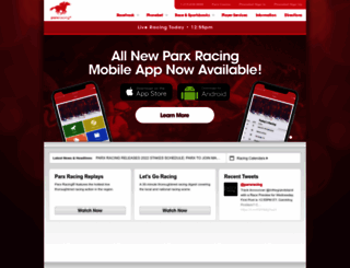 parxracing.com screenshot
