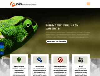 pas-solutions.ch screenshot