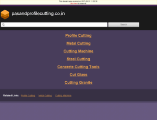 pasandprofilecutting.co.in screenshot