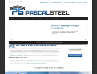 pascalsteel.com screenshot