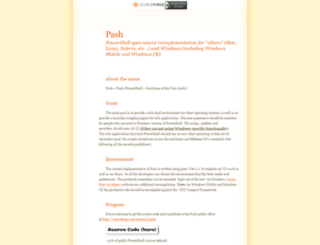 pash.sourceforge.net screenshot