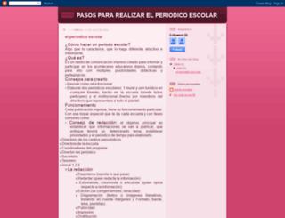 pasospararealizarelperiodicoescolar.blogspot.com screenshot