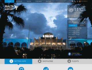 passengers.maltairport.com screenshot