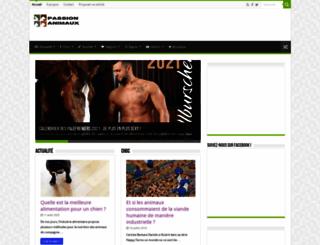 passion-animaux.com screenshot