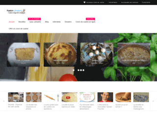 passionculinaire.fr screenshot