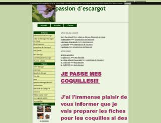 passionescargot.blog4ever.com screenshot