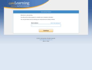 passport.carelearning.com screenshot