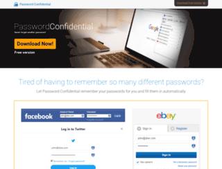 passwordconfidential.com screenshot