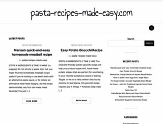 pasta-recipes-made-easy.com screenshot