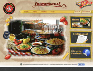 pastamaniacatering.sg screenshot