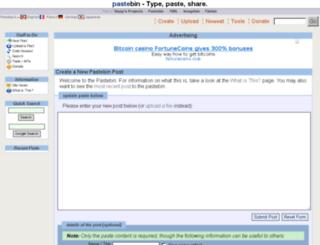 pastebin.ca screenshot