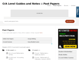 pastpapers.o-alevel.com screenshot