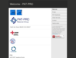 pat-pro.co.uk screenshot