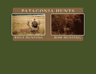 patagoniahunts.com screenshot