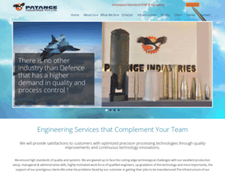 patangeindustries.com screenshot