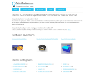 patentauction.com screenshot