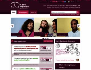 patientopinion.org.uk screenshot