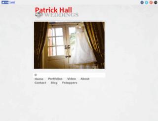 patrickhallweddings.com screenshot