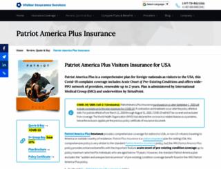 patriotamericainsurance.net screenshot