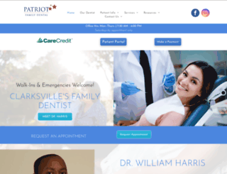 patriotfamilydental.com screenshot